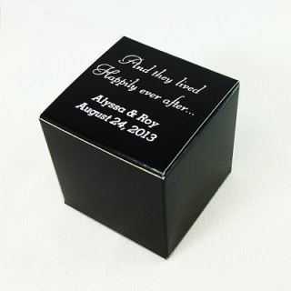 Personalized Wedding Favor Candy Treat Gift Box 2x2x2 100 Custom Bxs