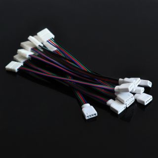 10pcs Line Connector for 3528 5050 RGB LED Strip Light 10mm Width PCB 4 Pin