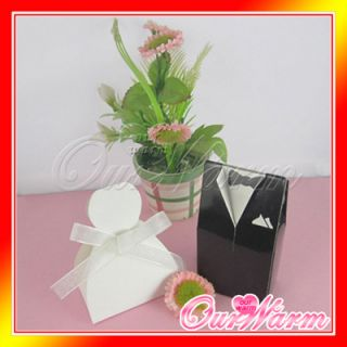 200 Tuxedo Dress Satin Wedding Party Gift Favor Box New