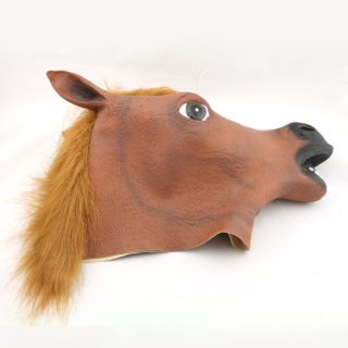Creepy Halloween Horse Full Head Latex Rubber Mask Cosplay Party Costume Prop