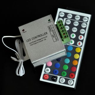 New DC 12V 12A 144W 44Key IR Remote Controller for RGB 5050 3528 LED Strip SMD