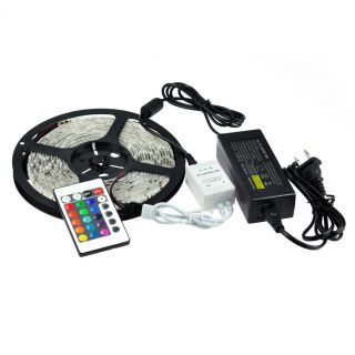 Kit 50M 10X5M 5050 RGB Waterproof Flexible Strip 300 LED Light Power Remote