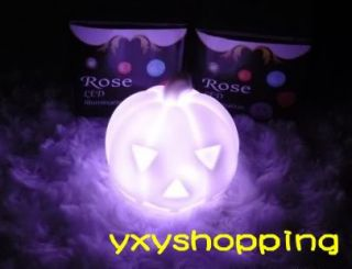 1P Creative Lamps 7 Color Changing LED Pumpkin Night Light Lamp Halloween Gift