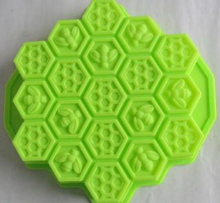 1x Bees Nest Silicone Ice Cube Chocolate Fondant Cake Mould Bar Tool Mold Party