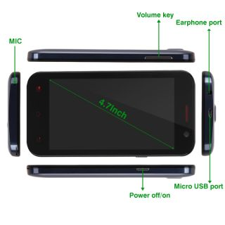 "Pomp W89 4 7"" 8MP Dual Sim Multi Touch Android 4 2 Smart Cell Phone Quad Core"