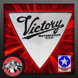 Silver Victory Script Right Side Cheese Wedge Engine Side Cover Badge Freedom