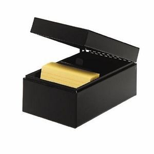 New Steelmaster Steel Card File Box Fits 4 x 6 Index Cards 900 Card Capacity
