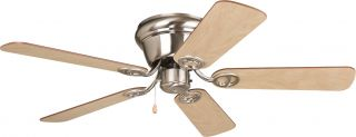 Ellington WC42BNK5 Wyman Brushed Nickel Flush Mount 42 Ceiling Fan