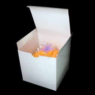 Cupcake Cookie Candy Wedding Favor Treat Gift Box 4x4x4 50BX White