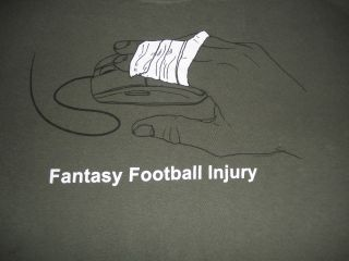 Fantasy Football Injury Heavy Cotton Mens T Shirt XL