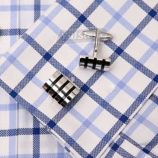 New Design Black Line French Shirt Cufflinks Men`s Wedding Party Gift Cuff Links