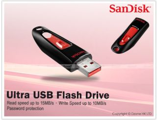 SanDisk Ultra USB Flash Drive 64GB Password Protection with SanDisk Software