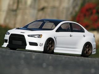 HPI Mitsubishi Lancer Evolution x Body 200mm 1 10th RC Car Body 17545