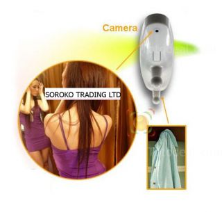 Mini HD Clothes Hook Motion Detection Spy Camera Hidden Pinhole 1280 960 30fps