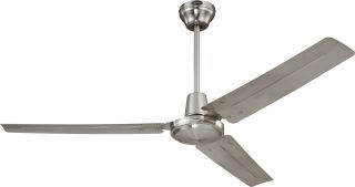 "Westinghouse 7861400 Industrial Nickel 56"" Ceiling Fan w Wall Control"