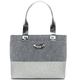 Kate Spade Frosted Felt Dipped Quinn Bag Tote Purse $295 New Gray Silver Pewter