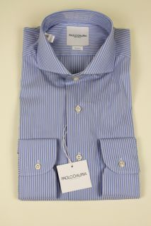 Paolo D'Auria SARTORIA Light Blue Cutaway Collar Shirt Made by Saitt