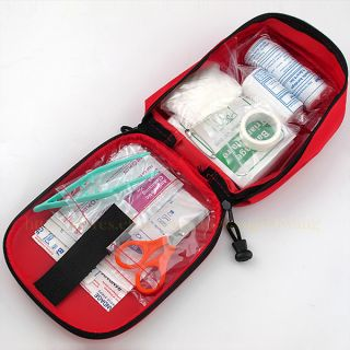 Emergency First Aid Kit Bag Pack Travel Sport Survival Rescue Treatment Pouch