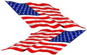 American Flag Decals Race Boat Bow Flags