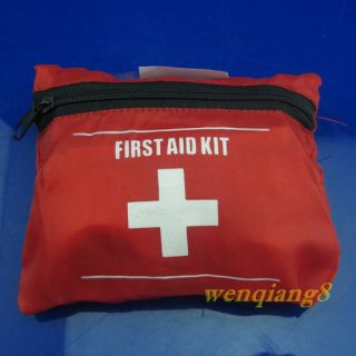 Emergency First Aid Kit Bag Pack Travel Sport Survival New Red First Aid Kit W8