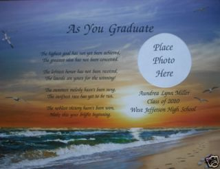 Personalized Graduation Poem High School or College Gift for Graduate Class 2012