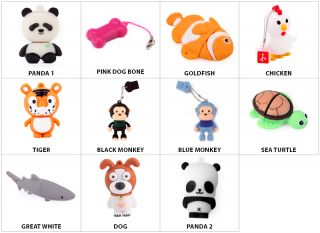 4GB 8GB Animal USB 2 0 Flash Drive Memory Stick File Storage Choose Your Animal