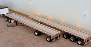 Tamiya Custom Aluminum Spread Axle Flatbed Trailer for 1 14 Trucks Kinghauler