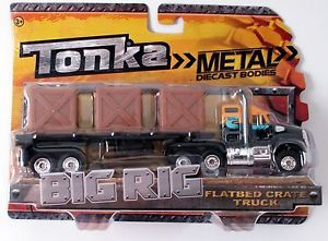 Tonka Metal Diecast Bodies Big Rig Flatbed Crate Truck