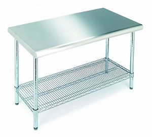 Restaurant Stainless Steel Kitchen Work Table Food Prep Commercial