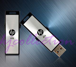HP V275W 8GB 8g USB Flash Drive Pen Memory Stick Storage Retractable Metal