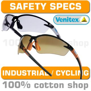 Venitex FUJI2 Safety Specs Sun Glasses Spectacles Shades Clear Smoke Cycling MTB