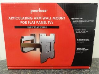 "New Peerless Articulating Arm Wall Mount for Flat Panel TVs 19"" 40"" LMAM1940"