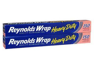 New 300 Sq ft Reynolds Heavy Duty Aluminum Foil Thick Food Wrap 2 150 Sq ft Roll