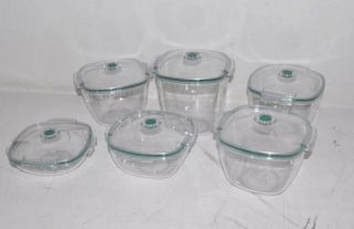 Vacuware 6 PC Set Fresh Food Sealing Container Kit