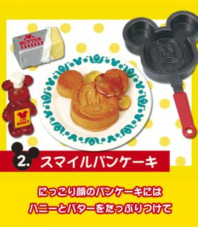 Re ment Miniature Mickey Retro 50's Cafe Kitchen Food Drink Full Set of 6 Pcs