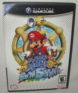 Super Mario Sunshine Nintendo GameCube Game Complete Look