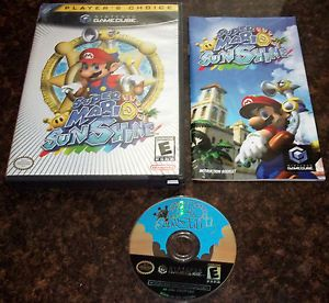 Super Mario Sunshine Nintendo GameCube Game Complete Wii Mint