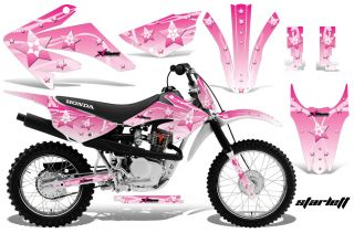 AMR Racing MX Dirt Bike Offroad Graphics Decal Kit Honda CRF80 100 2011 Pink S