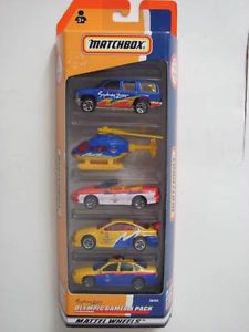 Matchbox 5 Car Pack Olympic Games Sydney 2000 Police Chevy Camaro