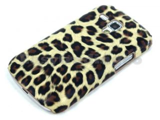 Brown Leopard Pattern Hard Back Case Cover Samsung Galaxy s Duos S7562