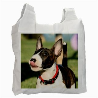 Pit Bull Terrier Puppy Dog Eco Friendly Green Shopping Tote Bag Reusable Case