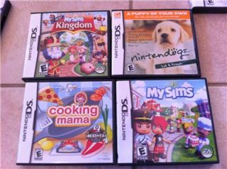 Nintendo DS Lite Green Bundle Lot 17 Games Cases Car Charger My Sims Mario