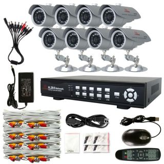500GB 1TB HDD Kare 4CH 8CH CCTV DVR Security System Sony CCD Camera Outdoor