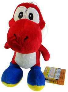 "Nintendo Super Mario Brothers Bros Red Yoshi 7"" Stuffed Toy Kids Plush Doll"