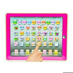 Y Pad English Learning Touch Computer Tablet Toy Kids Boys Girls Education Pink