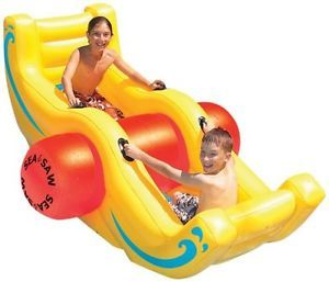 Sea Saw Rocker Fun Water s Kids Children Rafts Ride Inflatable Pool Ons Toy New