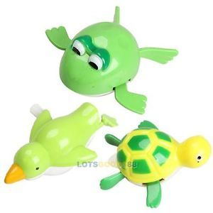 New Cute Wind Up Bath Diver Plastic Toy Swimming Baby Kids Bath Toys LS4G