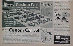 1963 Monogram Custom Plastic Model Car Autos Kids 1 24 Scale Hobby Kits Toy Ad