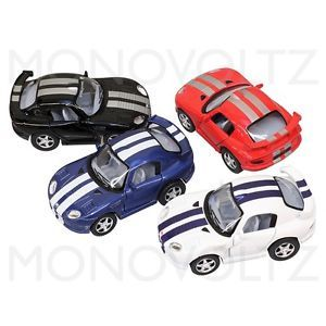 4X Mini Die Cast Metal Dodge Viper GTR s Pull Back Car Toy for Kids Gift 4 Pack