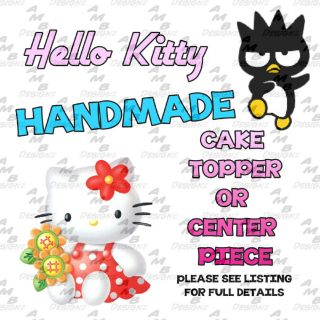 Hello Kitty Themed Cake Topper Center Piece Party Supplies